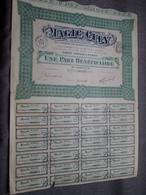 MAGIC CITY : Une Part Bénéficiaire Au Porteur : N° 03,316 > 24 Fev 1911 ( Voir Photo ) - M - O