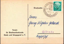 Germany Card With Special Cancel - Christmas