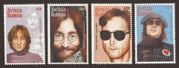 ANTIGUA 1995 POP ROCK MUSIC JOHN LENNON 15TH DEATH ANNIVERSARY SET MNH - Antigua En Barbuda (1981-...)