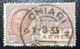 Posta Aerea Tipo Leoni - Emesso Il 11 Giugno 1928 80 C. - Effigie Di Vittorio Emanuele III Entro Un Ovale - 1900-44 Vittorio Emanuele III