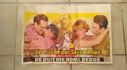 Affiche Cinéma Originale. Le Pigeon Qui Sauva Rome. Charlton Heston - Elsa Martinelli - Melleville Shavelson - Posters