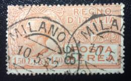 Posta Aerea Tipo Leoni - Emesso Il Marzo 1926 1,50 L. - Effigie Di Vittorio Emanuele III Entro Un Ovale - 1900-44 Vittorio Emanuele III