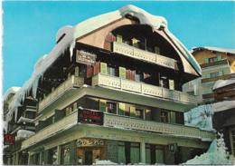 D74-MEGEVE-HÔTEL DE LA PATINOIRE-CPSM PANORAMIQUE Multivues (4 Vues :Salle De Bain-Chambres-Vue Extérieure) Grand Format - Megève