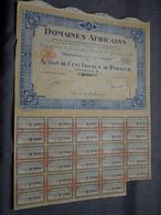 DOMAINES AFRICAINS: Action De 100 Francs Au Porteur : N° 36001 ( Voir Photo ) - Afrika