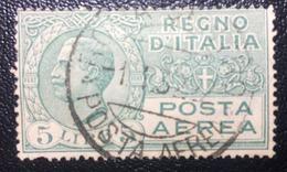 Posta Aerea Tipo Leoni - Emesso Il Marzo 1926 5 L. - Effigie Di Vittorio Emanuele III Entro Un Ovale - 1900-44 Vittorio Emanuele III