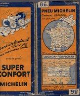 Carte Géographique MICHELIN - N° 086 - LUCHON-PERPIGNAN - N° 3215.5-71 - Cartes Routières