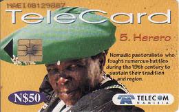 Namibia Chip N$ 50, 5. Herero, Used - Namibie