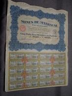 MINES De MATRACAL : Cinq Parts Bénéficiaires Au Porteur : N° 042.001 à 042.005 ( Voir Photo ) - Mines