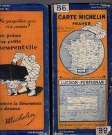 Carte Géographique MICHELIN - N° 086 LUCHON - PERPIGNAN - N° 2916-4S2 - Cartes Routières