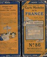 Carte Géographique MICHELIN - N° 086 FOIX - PERPIGNAN - N° 2532-26 - Wegenkaarten