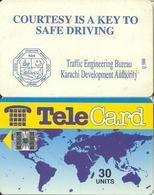 Pakistan Chip Phone Card, Traffic Slogan (No Logo) - Pakistan