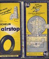 Carte Géographique MICHELIN - N° 084 MARSEILLE - MENTON 1954 - Cartes Routières