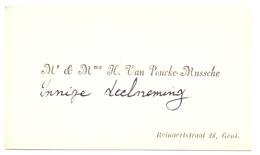 Visitekaartje - Carte Visite - Mr & Mme H. Van Poucke - Mussche - Gent - Cartoncini Da Visita