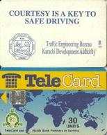 Pakistan Chip Phone Card, Traffic Slogan (With HBL Logo) - Pakistan