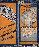 Carte Géographique MICHELIN - N° 084 MARSEILLE - MENTON N° 3340-101 - Cartes Routières