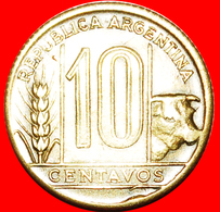 + BULL (1942-1950): ARGENTINA ★ 10 CENTAVOS 1948! LOW START ★ NO RESERVE! - Argentine