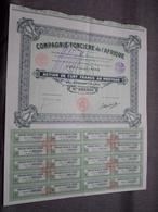 Cie Foncière De L'AFRIQUE : Action De Cent Francs Au Porteur : N° 001,926 ( Voir Photo ) - Afrika