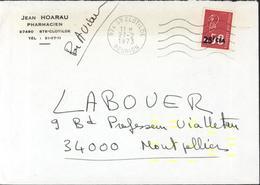 J Horeau Pharmacien Ste Clotilde YT 393 CAD 974 Ste Clotilde Réunion 27 2 73 Marque Fluo Jaune Pr Essai Automatisation - Isola Di Rèunion (1852-1975)