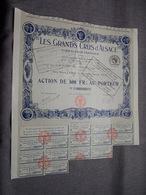 Les GRANDS CRUS D'ALSACE Vins Du Rhin Français : Action De 500 Francs Au Porteur : N° 000.183 ( Voir Photo ) - Non Classés