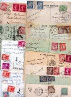 FRANCE...TIMBRE TAXE....VOIR DETAIL.....LOT DE 19 SUR CPA.....VOIR SCAN......LOT 30 - Impuestos