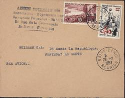 YT 321 + 326 CAD St Denis Réunion 28 7 1957 Par Avion Cachet Commercial - Covers & Documents