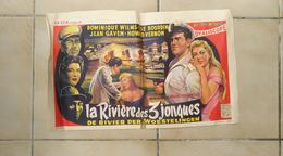 Affiche Cinéma Originale. La Rivière Des 3 Jonques. Dominique Wilms, Bourdin, Gaven Howard Vernon - Affiches