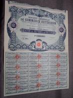 Soc. Gén. De Commerce Extérieur > Tananarive  : Action De 100 Francs Au Porteur : N° 055.525 ( Voir Photo ) - Actions & Titres