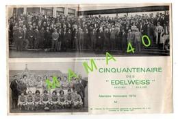 RUGBY - 64 - OLORON STE MARIE - CINQUANTENAIRE DES EDELWEISS - PHOTO DES ANCIENS ET DE L'EQUIPE GAGNANTE EN ANGLETERRE - Rugby