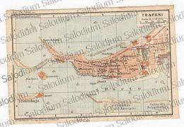 1910 - TRAPANI  - SICILIA  - Mappa Cartina - Mappe