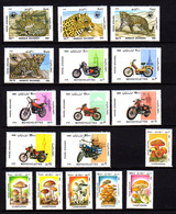 Afghanistan 1985, Motos, Panthère, Champignons, Entre 1249 Et 1282** (pas 3afg), Cote 29 € - Afghanistan