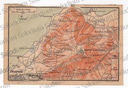 1910 - TRAPANI MONTE S. GIULIANO  - SICILIA  - Mappa Cartina - Mappe