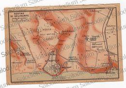 1910 - SELINUNTE  - SICILIA  - Mappa Cartina - Mappe