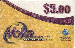 Zambia, Voka $5, Telecel, Used - Zambie