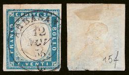 IV: 20 Cent. (15f) Annullato ABBASANTA (p.12) (€ 325++) - Sardinia