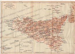 SICILIA  - Mappa Cartina - Mappe