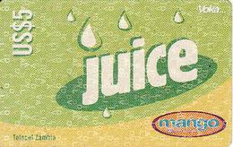 Zambia, Juice $5, Mango, Expiry Date: 08/08/2003, Used - Zambia