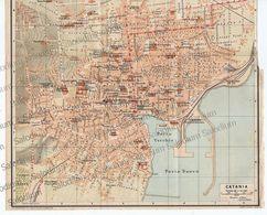 CATANIA - SICILIA  - Mappa Cartina - Mappe