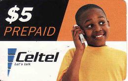 Zambia, Celtel Prepaid $5, Used - Zambie