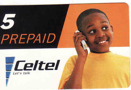 Zambia, Celtel Prepaid 5, Used - Zambie