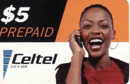 Zambia, Celtel Prepaid $5, Girl, Used - Zambia
