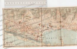 MESSINA - SICILIA  - Mappa Cartina - Mappe