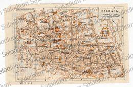 FERRARA  - Mappa Cartina - Mappe