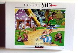 Puzzle Vintage Obelix Porteur - 500 Pieces - Nathan 2001 - Puzzles