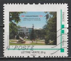 Timbre Personnalisé : Cinquantenaire Cercle Philatélique De Saint-Priest Et Environs. - France