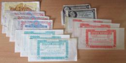 France - 12 Billets De Loterie Anciens : Invalides, Gueules Cassées, Midi-Change, Loterie Nationale - Achat Immédiat - Billets De Loterie