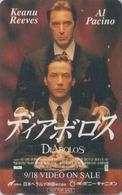 Télécarte Japon / 110-011 - CINEMA FILM - DIABOLOS * AL PACINO & KEANU REEVES * - Movie Japan Phonecard  11616 - Cine