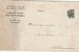 Beaumont - Chimay Grand Prix Des Frontières 1931 - Règlement - Programmes