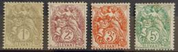 LEVANT - MLH - YT 9, 10, 11, 13 - 1c 2c 3c 5c - Levant (1885-1946)