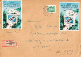 Postal History: Germany Registered Cover With 2 SSs And Deutsches Post Stamp - [7] Federal Republic