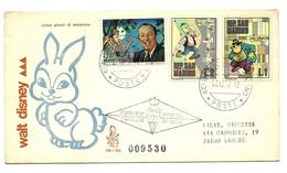 1970 - San Marino - Walt Disney   FDC    14/67 - Disney